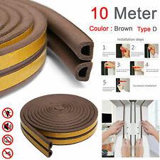 10M Self Adhesive Draft Excluder Rubber Door Window Seal Strip Roll Tape