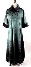Vintage Theatrical Oriental Long Coat Green Nataya Jacket Victorian,Renaissance