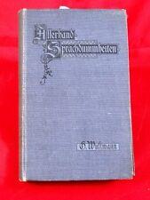 Wustmann : Allerhand Sprachdummheiten, 1903