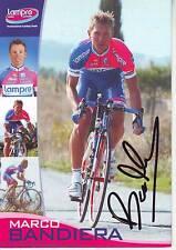 CYCLISME carte cycliste MARCO BANDIERA équipe LAMPRE 2008 signée