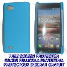 Pellicola + custodia BACK COVER AZZURRA rigida per LG Optimus 4X HD P880