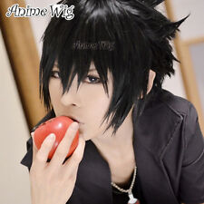Anime Cosplay Wig Kostüme Perück Sasuke Uchiha Schwarz Haar Halloween 30cm + Cap