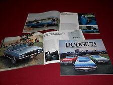 1973 DODGE CHALLENGER DART CORONET CHARGER POLARA MONACO 40 p. BROCHURE CATALOG