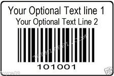1000 Serial Barcode Sequential Consecutive Number Roll Stickers non Upc