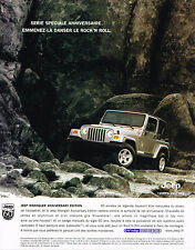PUBLICITE ADVERTISING ADVERTISING  1995   JEEP  WRANGLER    ANNIVERSARY EDITION