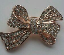 Beautiful Austrian Crystal Brooch Pin - rose gold  (UK Seller) 474
