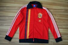SPAIN NATIONAL TEAM 2014 ADIDAS RED TRACK TOP SOCCER JACKET ZIP SIZE LARGE RARE