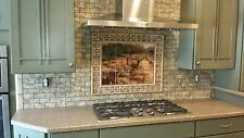 Art Deer Forest Mural Ceramic Backsplash Bath Tile #1559