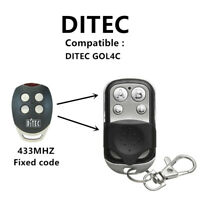 4 channel Clone Ditec GOL4C remote control - fixed code, 433,92 MHz