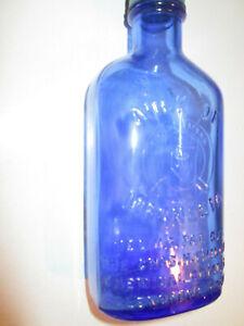 """Antique Vintage Phillips Milk Of Magnesia Old Blue Bottle Made USA Glenbrook 7"""""""
