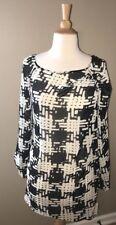 Rachel Rachel Roy Black Sheer Long Sleeve Dress Tunic Size XS