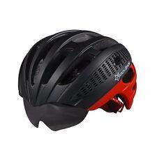 RockBros Fahrradhelm Straße/MTB Helm Mit Drei Wechselgläser Schwarz Rot Neu