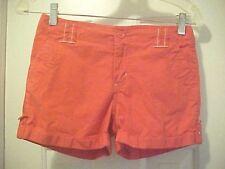 "Girls Size 7 Solid Orange Stretch Shorts By xhilaration Cotton Blend 2.5"" Inseam"