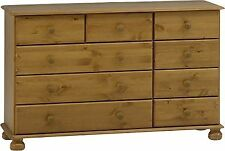 Richmond Pine 2 3 4 Drawer Bedroom Solid Antique Furniture Chest of Drawers Unit