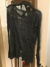 PAS DE CALAIS asymmetric shredded slit sweater gray XS