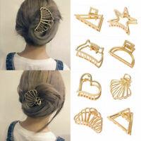Women Geometric Hair Claw Hair Holder Claw Gold Hollow Hair Clips Hair Crab Clip