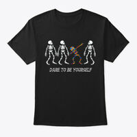 Autism Skeleton Dabbing Be Different Hanes Tagless Tee T-Shirt
