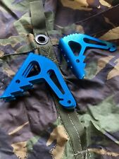 Heavy duty tent pegs Titan Ground Anchor Pack Of 6 Blue anodised aluminium