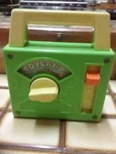 Rare Vintage 1983 Fisher-Price Toyland wind up radio box.Working.