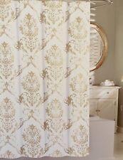 TAHARI Cotton Large Medallion Khaki Chinoisserie Damask Shower Curtain 72x72