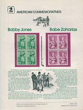 GOLFING VERSE with BOBBY JONES STAMP ST012