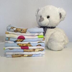 10 Stoffwindeln bunt Stoffwindel Mullwindeln Spucktuch aus Baumwolle 60x80 cm