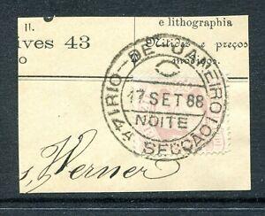 Brazil 1882 #85 on Piece
