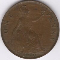 1920 George V One Penny | British Coins | Pennies2Pounds
