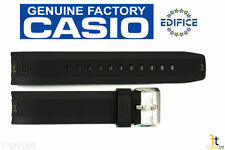 CASIO EQW-M600C Edifice Original 22mm Black Rubber Watch Band Strap EQS-500C