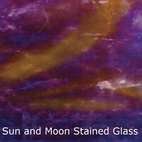 Wissmach Glass Sheet 705LL - Violet w/Streaks of Dark Medium Amber