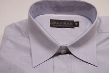 VAL & MAX Boys' Striped Shirt Greyish Blue 9 Yrs Luxury Label Valmax Italy NEW