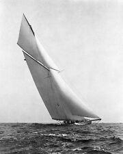SAILBOAT YACHT UNDER FULL SAIL 1903 8x10 SILVER HALIDE PHOTO PRINT
