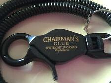 New listing Chairman's spotlight 29 Ca Players Club Card holder bungee cord clip keychain
