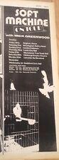 SOFT MACHINE 1972 UK Tour Poster size Press ADVERT 16x6 inches