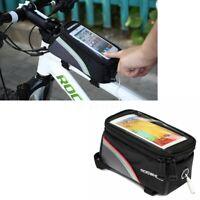 "Roswheel Waterproof Bike Frame Bag Bicycle Touch Screen Phone Holder 5.5""  √ !*"