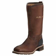 "Ariat 10014064 Hybrid All Weather Safety Toe 14"" Pull On Square Toe Boots"