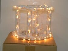 Two Tier Crystal Cake Stand with 36 mini clear lights