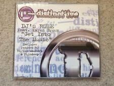 DISTINCT'IVE - DJ's Rule - Get Into the Music CD Single