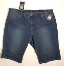 Jones New York Womens jeans Size 22 w Stretch bermuda shorts denim $79.50 NWT