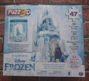 Disney Frozen Puzz3D - 47 Piece 3D Ice Castle Puzzle - New