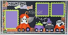 CraftEcafe Premade Scrapbook Page Paper Piecing Halloween Train BLJgraves 77