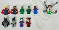 Lego Mini figure Marvel and DC Heroes and Villains Lot of 10 Figures