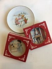 Vintage Norman Rockwell Plates & 1986 Child's Christmas Plate