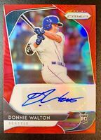 2020 Panini Prizm DONNIE WALTON Autograph Rookie Red Refractor SP /75 Mariners