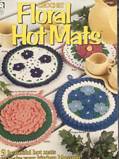 Crochet Pattern Floral Hot Mats 9 Pretty Designs Rose,Violet,Poppy,Daisy & More