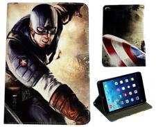 Per Apple iPad 2 3 4 Captain America MARVEL COMICS DC Stile Stand Custodia Cover