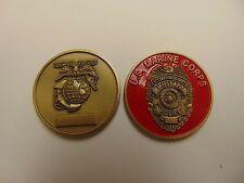 CHALLENGE COIN OLDER RARE ORIGINAL US MARINE CORPS MILITARY POLICE SEMPER FI