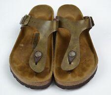 Birkenstock Gizeh Brown Metallic Thong Slide Sandals Size 36 / 6 W
