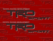 TOYOTA TRD SPORT BLACK AND SILVER Decals/Stickers 1 PAIR truck bed USA SHIPPING