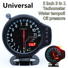 Car Tachometer Water Temp Gauge Oil Pressure Gauge Backlight With Warning Light